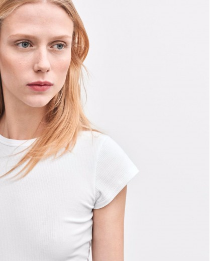 Camiseta slim-fit blanca